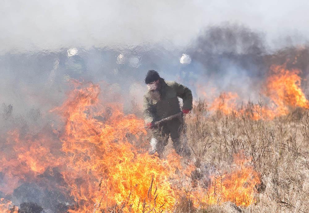 biebrza pożar 2020